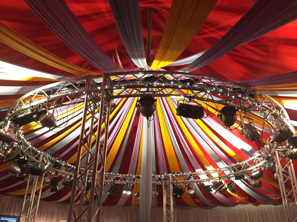 inside of a big top