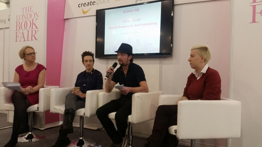 London Book Fair 2016 How to prepare for self-publishing Help For Writers panel Fiona Marsh Will Green Nikki Halliwell Catherine Dunn