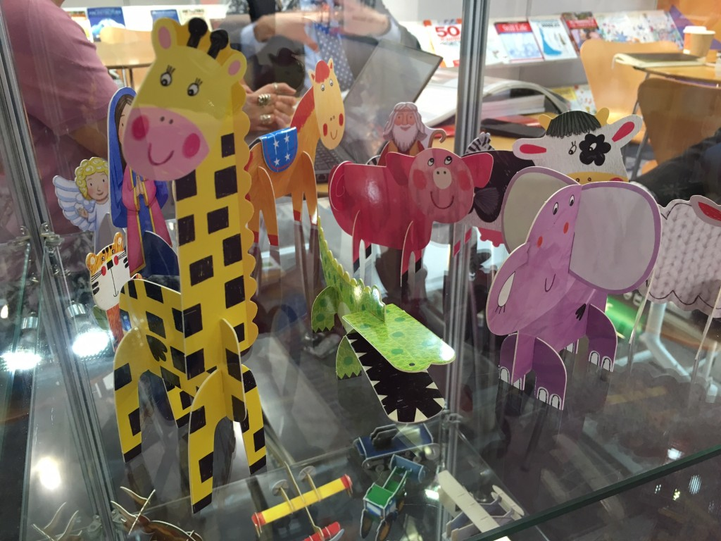 Origami animals at London Book Fair 2016